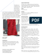 Cinnabar Scarf knit pattern