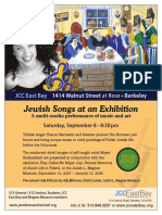 Jewish Songs at an Exhibitions | Sharon Bernstein, Berkeley 2007