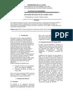 Alvaro Charris - Informe 8 Transistores de Efecto de Campo JFET