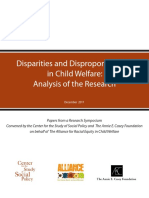 Disparities and Disproportionality in Child Welfare an Analysis of the Research December 2011