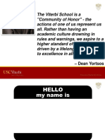 USC Viterbi a Community of Honor