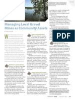 Managing local gravel mines as community assets