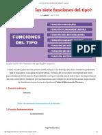 ¿Cuáles Son Las Siete Funciones Del Tipo_ - Legis