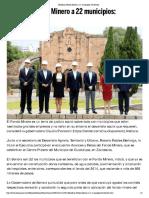 10-08-16 Beneficia Fondo Minero a 22 Municipios. - El Imparcial