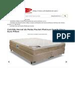 Colchao Herval de Molas Pocket Platinum Suede Visco Euro Pillow 17995.HTML