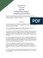 Reglamento General del CONESUP-Decreto MEP N° 29631-11 jul. 2001