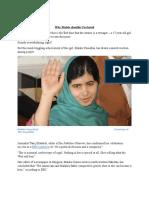 News Analysis - Malala