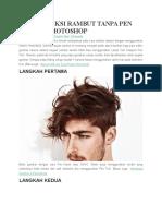Cara Seleksi Rambut Tanpa Pen Tool Di Photoshop