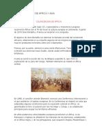 La Colonizacion de Africa y Asia