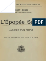 L'Epopée Serbe ; l'Agonie d'un Peuple (1916.) - Hanry Barby