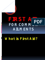 First Aid for Common Ailments for 1st Year
