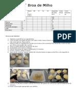 Ficha Técnica de Preparação - Broa de Milho