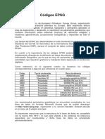 Códigos EPSG