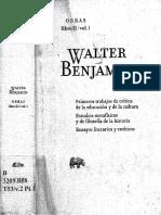 Walter Benjamin, Caracter y Destino