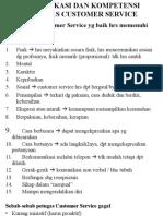 Kualifikasi Dan Kompetensi Petugas Customer Service