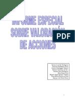 Informe Especial Sobre Valoracion de Acciones
