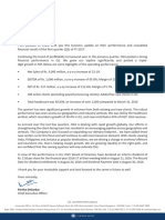 CEO's letter to Shareholders - Interim Dividend [Company Update]