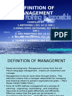 Definition of Management Kelompok 1