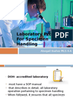 Laboratory Procedure for Specimen Handling