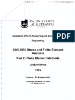 FE -  lecture notes index