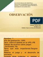 DIAPOSITIVAS OBSERVACION