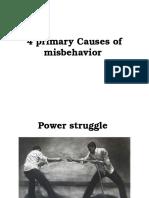 Primary Causes of Misbehavior