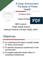 A Clean Environment Basic of Public Health