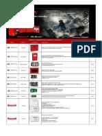Alarmas Contra Incendio Marca Mircom -Honeywell - Aupax - Sti - System Sensor