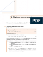 Elliptic Curves and Group Law