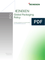 Heineken NV Global Packaging Policy