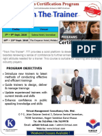 Train The Trainer Sept 2016