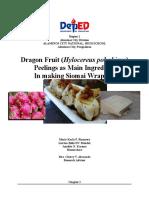 Dragon Fruit Peelings as an additive ingredient in making siomai wrapper