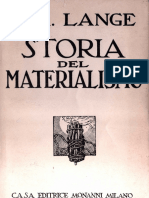 Lange Friederich Albert Storia Del Materialismo Vol I