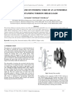 Structural Analysis of Steering Yoke of an Automobile for Withstanding Torsion Shear Loads