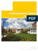 Undergraduate catalogue