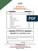Aanatomy of Flowering Plant