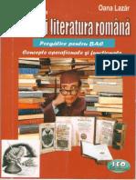Rezumate La Limba Și Literatura Română - Pregătire Pentru BAC