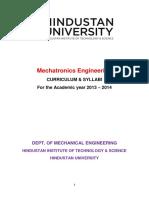 Mechatronics Syllabus