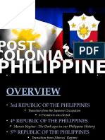 Post Colonial Philippines