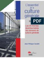 L'Essentiel de La Culture Générale - Les 20 Thèmes Incontournables Des Épreuves de Culture Générale