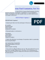 STR 581 Capstone Final Examination Part Two | STR 581 Week 4 Capstone Final Exam Part 2 - UOP Students