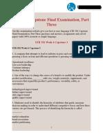 STR 581 Capstone Final Examination Part Three | STR 581 Week 6 Capstone Examination Part 3 | UOP Students
