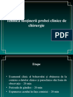 Tehnica Sustinerii Probei Clinice de Chirurgie