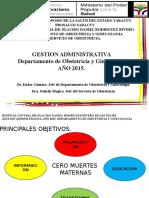 Gestion 2015 Dpto. de Obstetricia y Ginecologia