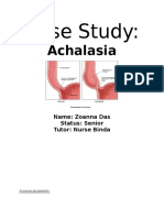 Case Study Achalasia