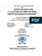 Sales and Promotion of Times of India Group Magazine in Lucknow