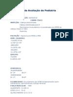 Ficha de Avaliação de Pediatri DE MARCUS