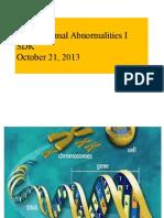 Chromosomal Abnormalities(I I) 6 SDK 2013