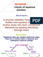 Revision Electrolysis