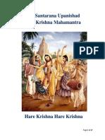 Hare Krishna Mahamantra Story Kali Santarana Upanishad